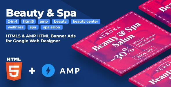 Aurora - Beauty & Spa HTML5 & AMPHTML Animated Banners (2-in-1) - CodeCanyon Item for Sale