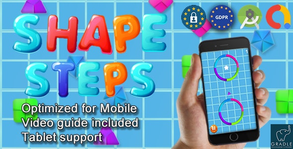 Shape Steps (Admob + GDPR + Android Studio) - CodeCanyon Item for Sale
