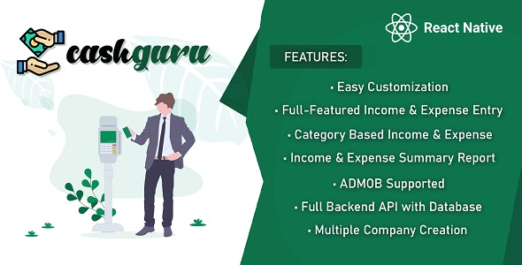 React Native Mobile App: Expense,Income, Category wise expense Income and Expense Vs Income - CodeCanyon Item for Sale