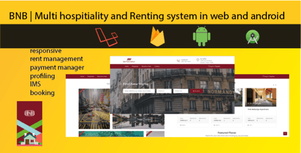 Hospitality renting website and android app| airbnb | oyo clone