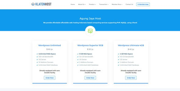 Simple Hosting Billing System