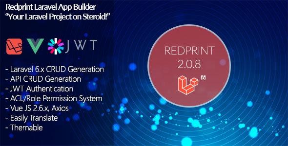Redprint Laravel 6 App Builder CRUD Generator Plus - CodeCanyon Item for Sale