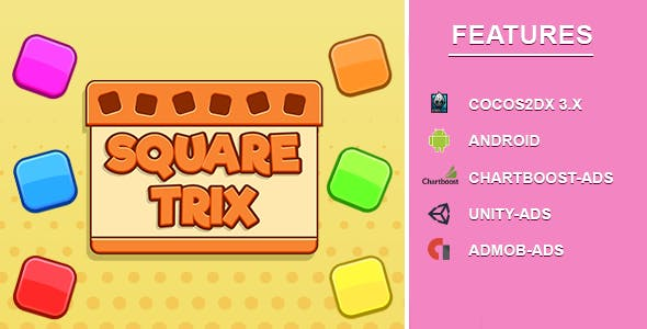 Square Trix Block Puzzle [Android ]