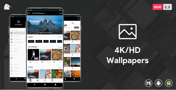 4K/HD Wallpaper Android App (Google Material Design + Admob + Firebase Push Noti + PHP Backend) 2.3 - CodeCanyon Item for Sale