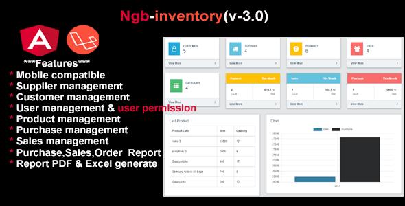 inventory angular 8 + laravel 5.6
