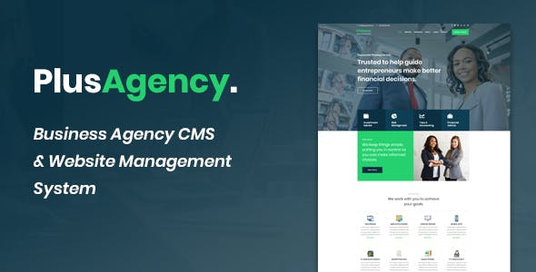 PlusAgency - Business Agency CMS & Website Management System