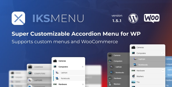 Iks Menu - Super Customizable Accordion Menu for WordPress - CodeCanyon Item for Sale