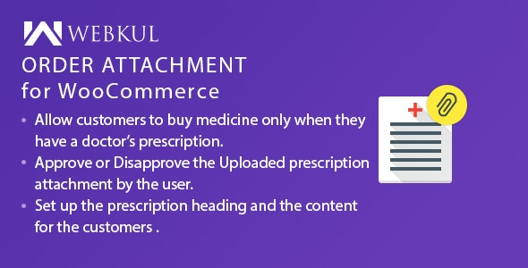 Medical Prescription Attachment Plugin for WooCommerce - CodeCanyon Item for Sale