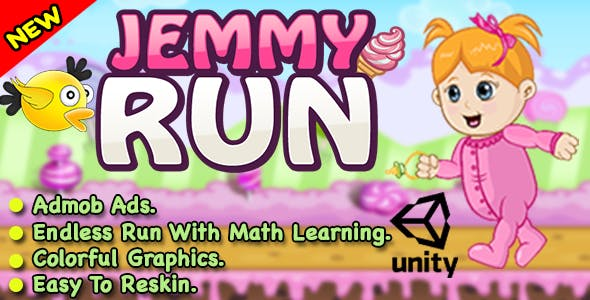 Jemmy Run + Endless Run With Learning + Unity Game For IOS & Android