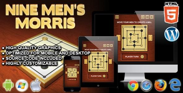 Nine Men's Morris - HTML5 Board Game - CodeCanyon Item for Sale