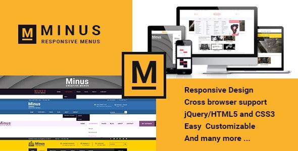 Minus Menu - CodeCanyon Item for Sale