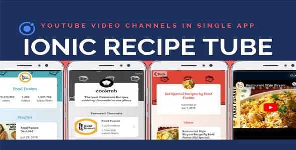 Ionic Recipe Tube