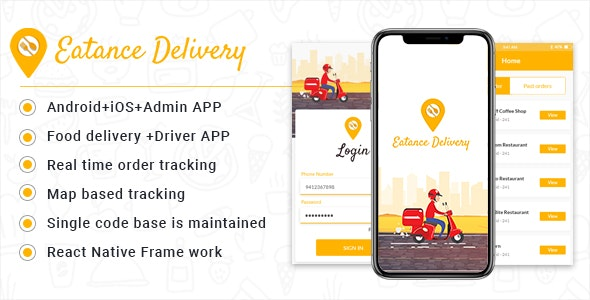 Eatance Driver: The Food Delivery and Driver APP - CodeCanyon Item for Sale