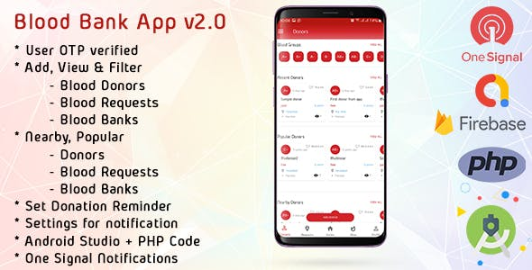 Blood Bank App With Admin Panel & Material Design v2.0