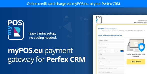 myPOS Payment Gateway for Perfex - CodeCanyon Item for Sale