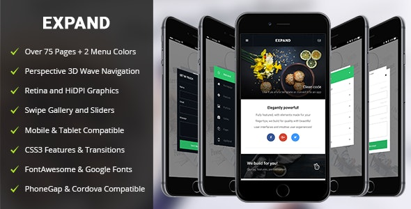 Expand Mobile | PhoneGap & Cordova Mobile App - CodeCanyon Item for Sale