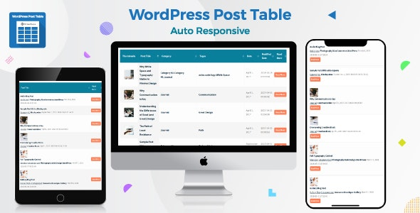 WordPress Post Table - CodeCanyon Item for Sale