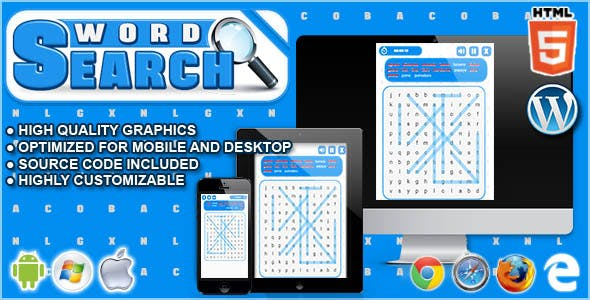 Word Search - HTML5 Word Game