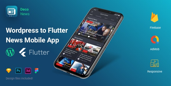 Deco News - Flutter Mobile App for Wordpress - CodeCanyon Item for Sale