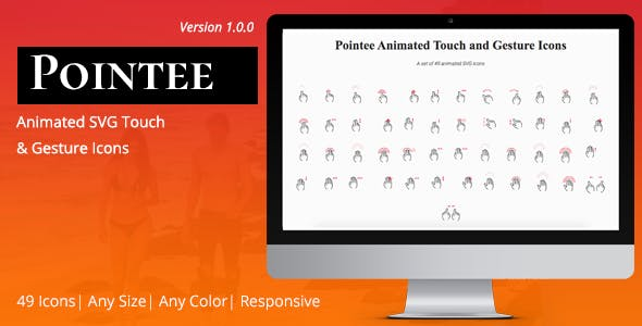 Pointee Animated Touch and Gesture Icons
