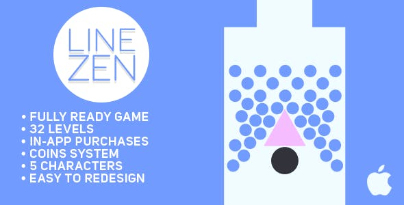 Line Zen - Fun Arcade Game IOS Template + easy to reskine + AdMob