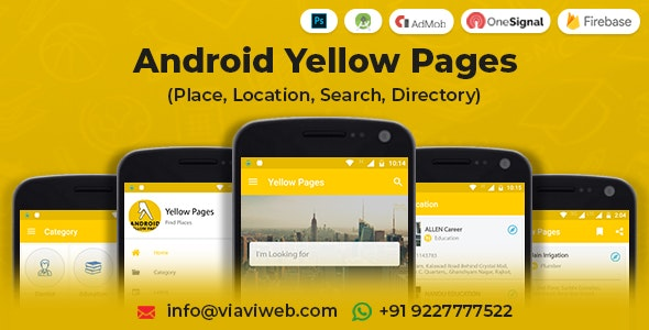 Android Yellow Pages (Place, Location, Search, Directory) - CodeCanyon Item for Sale