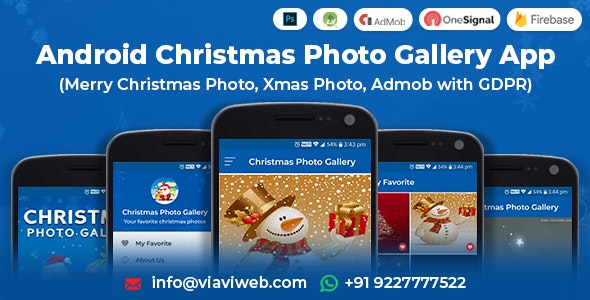 Android Christmas Photo Gallery App (Merry Christmas Photo, Xmas Photo, Admob with GDPR) - CodeCanyon Item for Sale