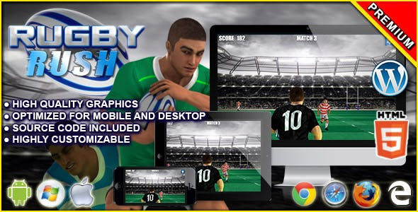 Rugby Rush - HTML5 Sport Game