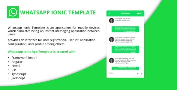 Whatsapp Ionic Template - CodeCanyon Item for Sale