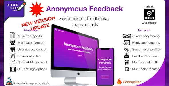 Anonymous Feedback - Get New Version Free Demo - Download Now