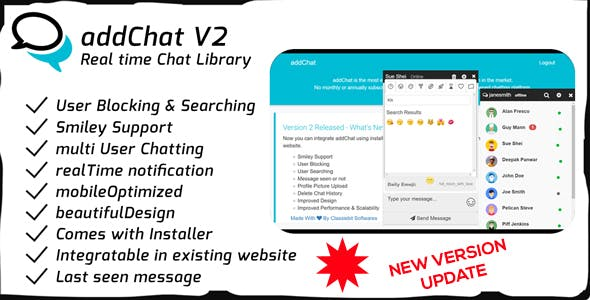 AddChat - Laravel + Codeigniter - Get New Version Free Demo - Download Now