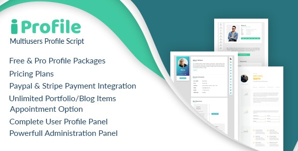 iProfile - Multiuser Profile & Resume Script (SASS) - CodeCanyon Item for Sale