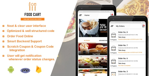 Food Cart - Online Food Delivery App by rndtechnosoft
