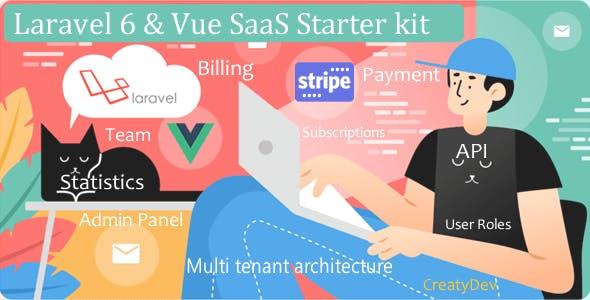 SaaSWeb, Laravel 6 & vue SaaS Starter kit