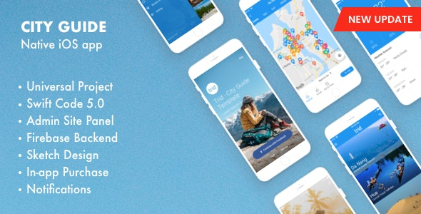 Trid - City Guide iOS Native with Admin Panel, Firebase - CodeCanyon Item for Sale