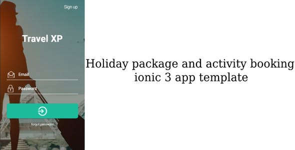 Holiday package and activity booking ionic 3 app templates - android and IOS