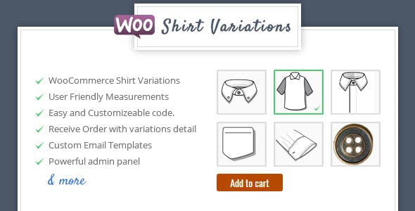 Shirt Designer - WooCommerce Plugin for Variations