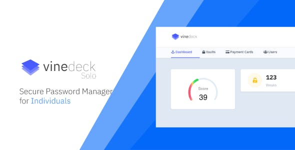 Vinedeck Solo - Secure Password Manager for Individual