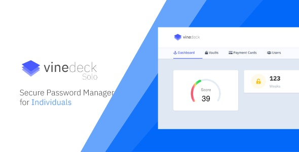 Vinedeck Solo - Secure Password Manager for Individual - CodeCanyon Item for Sale