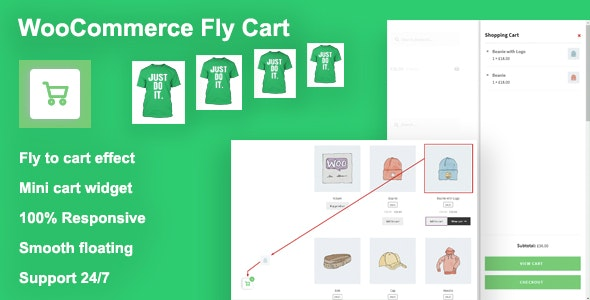 Woocommerce Fly Cart - CodeCanyon Item for Sale