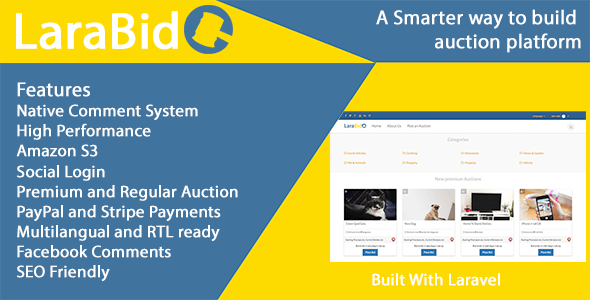 LaraBid - A Laravel PHP Auction Platform