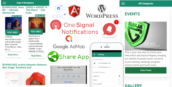 Ionic 4 Wordpress News App