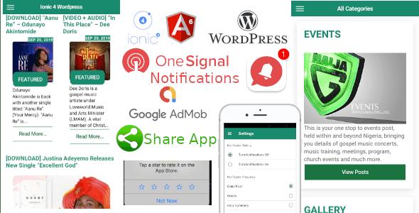 Ionic 4 Wordpress News App - CodeCanyon Item for Sale