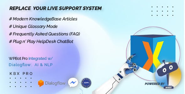 KnowledgeBase Glossary, FAQ & HelpDesk ChatBot
