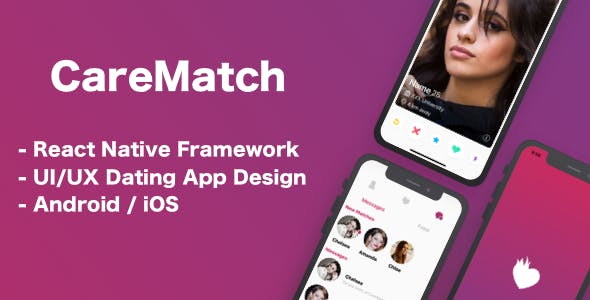 CareMatch - Dating Template ( Mobile Application - React Native )