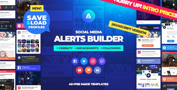Asgard - Social Media Alerts & Feeds Javascript Builder - Facebook, Instagram, Twitch and more!
