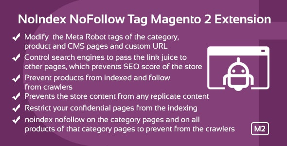 NoIndex NoFollow Tag Magento 2 Extension - CodeCanyon Item for Sale
