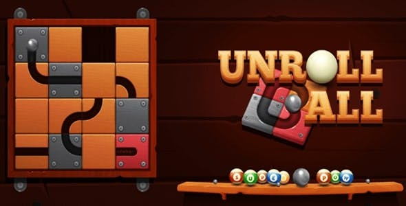 Unroll Ball Slide Puzzle Unity Complete Project