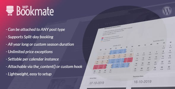 WP Bookmate - super-easy, lightweight booking calendar