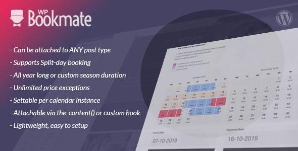 WP Bookmate - super-easy, lightweight booking calendar